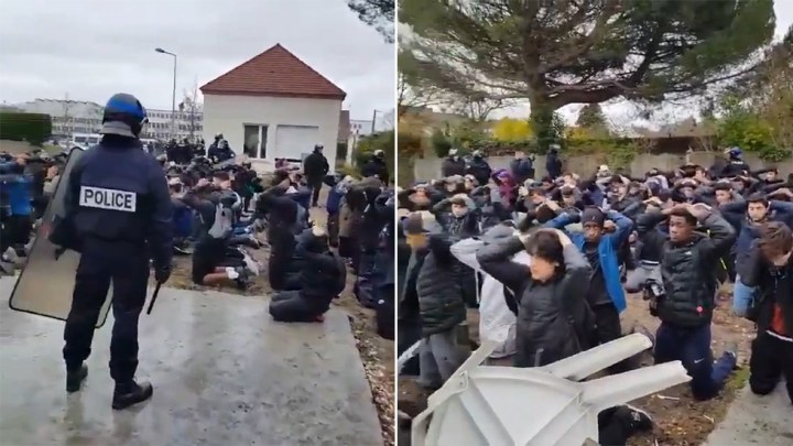 VIDEO of French students' arrest by armed police stirs OUTRAGE