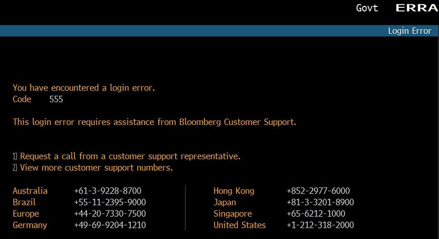 Bloomberg System Goes Down Ahead Of US Open