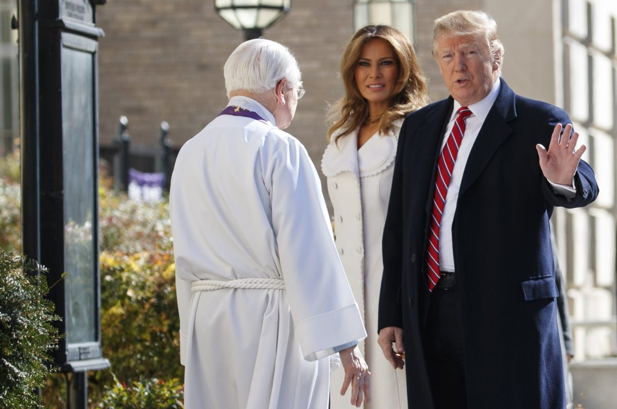 First Couple Spend Morning of St Patrick's Day in Worship