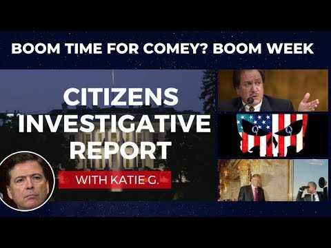 Is the Comey Report the next BOOM? TRUTH TO LIGHT. NO SLEEP IN DC.