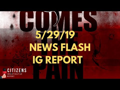 CitizensIReport News Flash!  IG Report Update