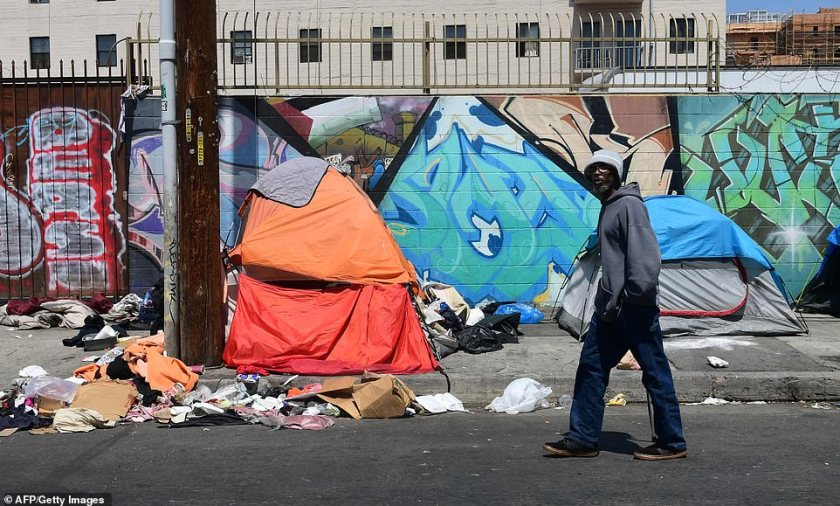 But the decision to not cap the total amount of property that homeless people can keep sparked fury among some officials who say it will 'only perpetuate the public health crisis that already exists in Skid Row'