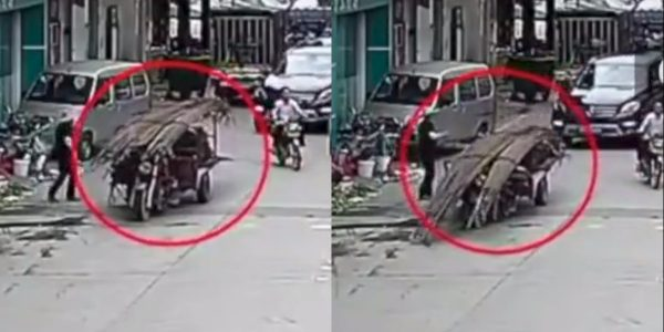 Man Crushed Under Steel Bars, Passersby Run to His Rescue