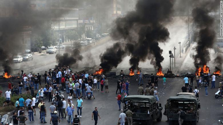 'WhatsApp Revolution' Protests In Lebanon Turn Violent With Fires, Road Blocks; Multiple Dead & Wounded