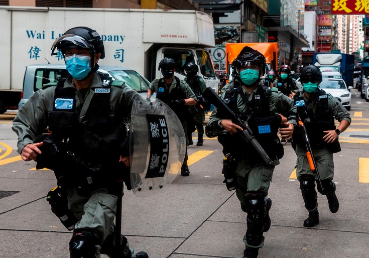 Hong Kong Police Arrest More Than 300 Following New Security Law