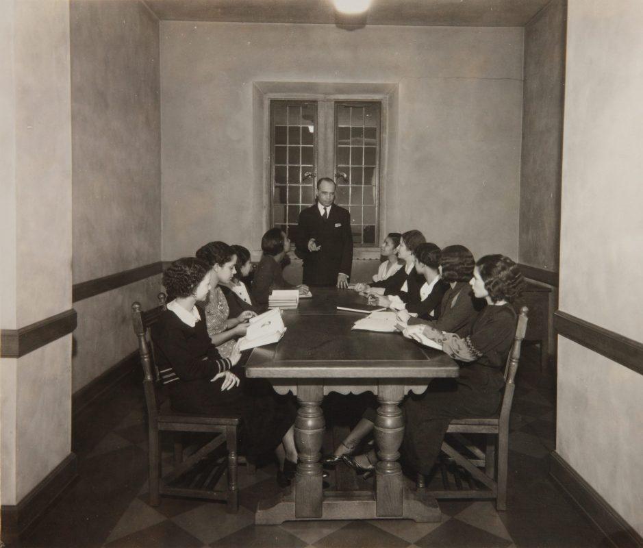 James Weldon Johnson teaching a class at Fisk University circa 1930