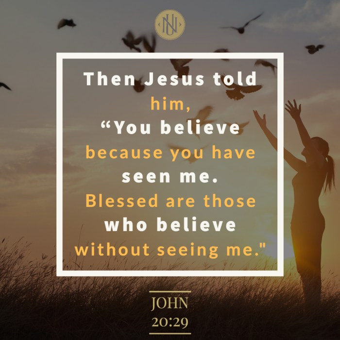 Blessed are Those Who Believe