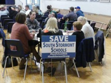 Approximately 150 people turned out at Rothwell-Osnabruck School Oct. 17 to brainstorm on a response to the Upper Canada District School Board's closure plans for the high school portion of that institution. Zandbergen photo, Nation Valley News