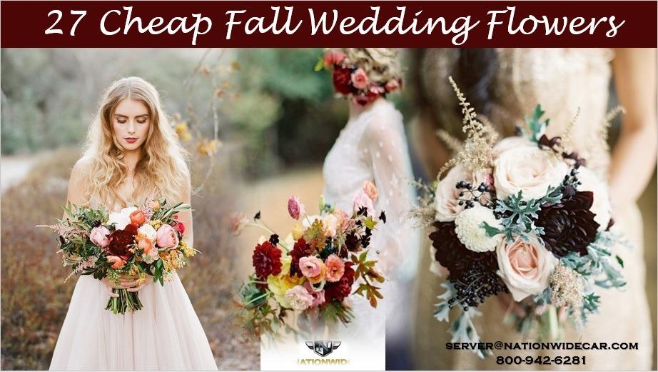 27 Cheap Fall Wedding Flowers