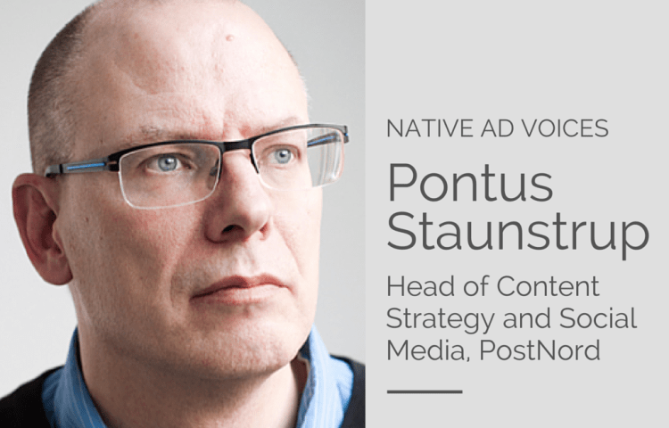 native ad voices - Pontus Staunstrup
