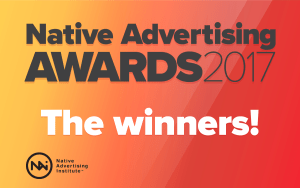 Native Advertising Awards 2017 Winners