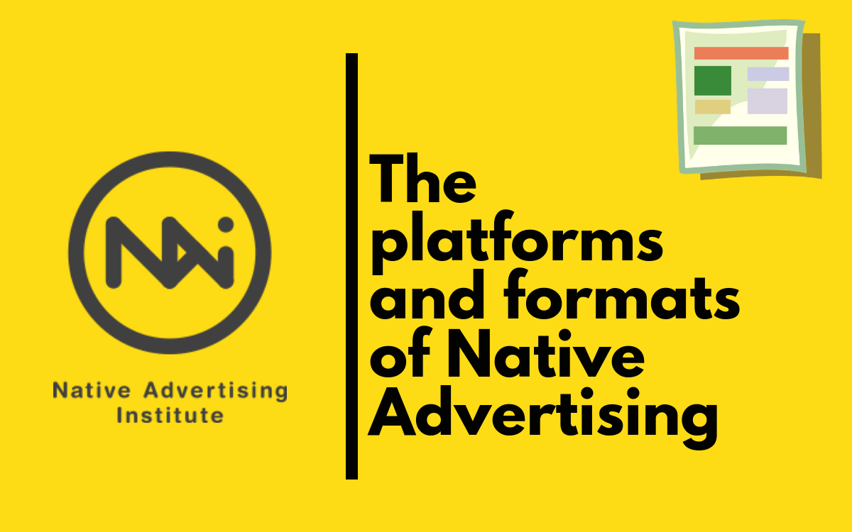 Formats and Platforms for Native Advertising