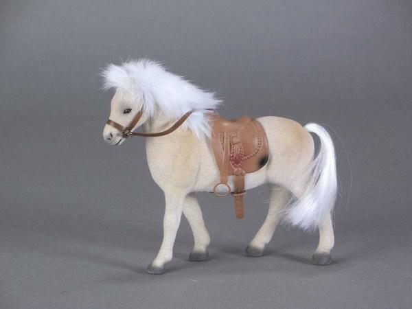 Flocked Palomino Horse 10-128