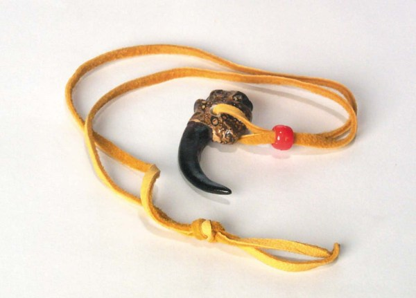 Eagle Claw Necklace With Suede Cord 3-214-N