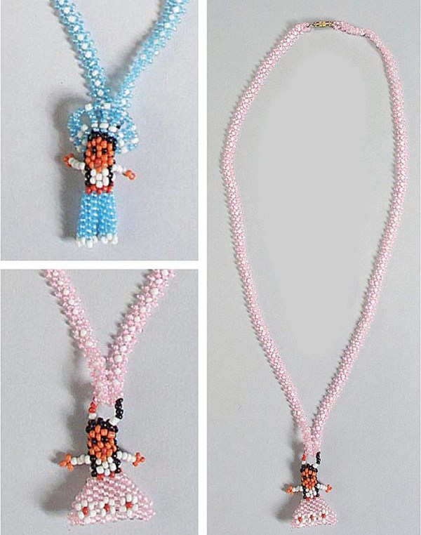 Boy Girl Indian Beaded Necklace 1-516