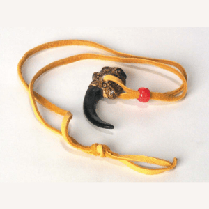 Eagle Claw Necklace With Suede Cord