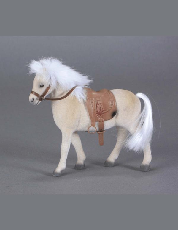 Flocked Palomino Horse