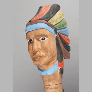 Indian Chief Head Walking Stick