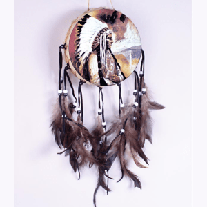 Indian Chief Painted Drum