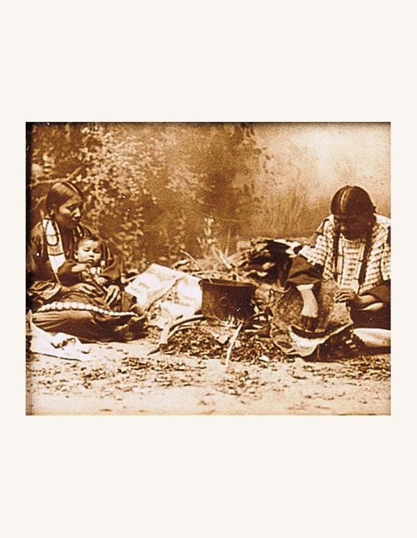 Native American Women Tin-Type Print