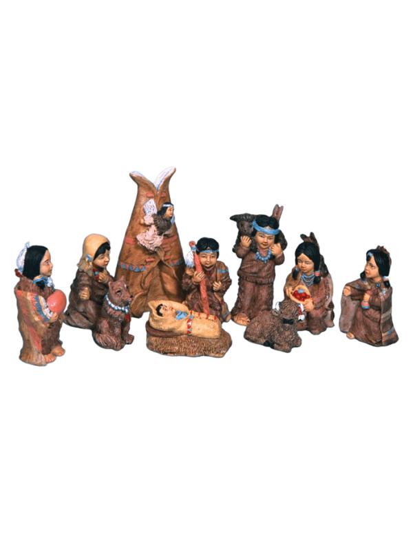 Polyresin Native American People Set