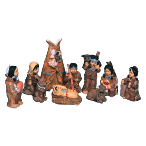 Polyresin Native American People Set
