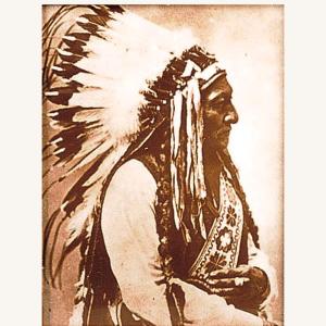 Sitting Bull Tin-Type Print