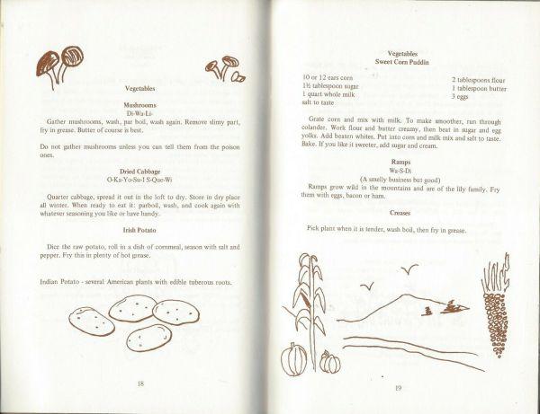 Native American Cookbook Inside