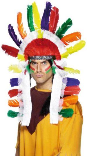 VILLAGE PEOPLE INDIAN CHIEF ADULT MENS FANCY DRESS HALLOWEEN COSTUME