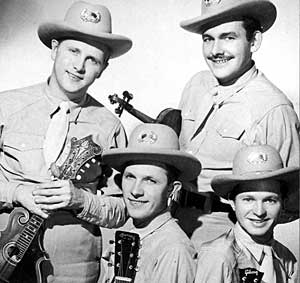 Don Stover with the Lilly Brothers and Tex Logan (3)