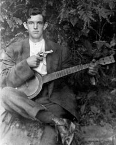 banjo player with gun