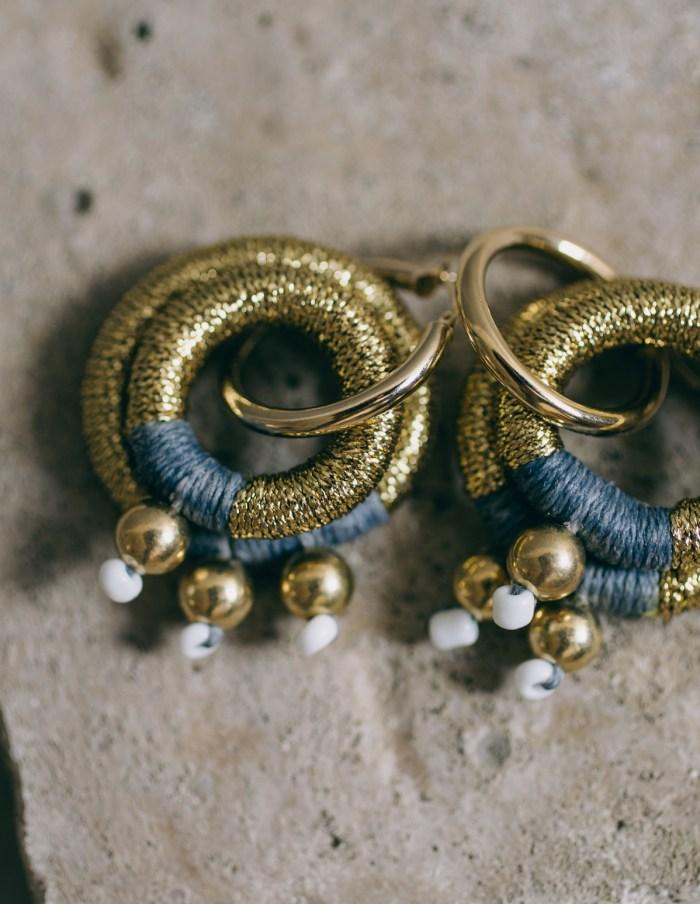gravity gold earrings