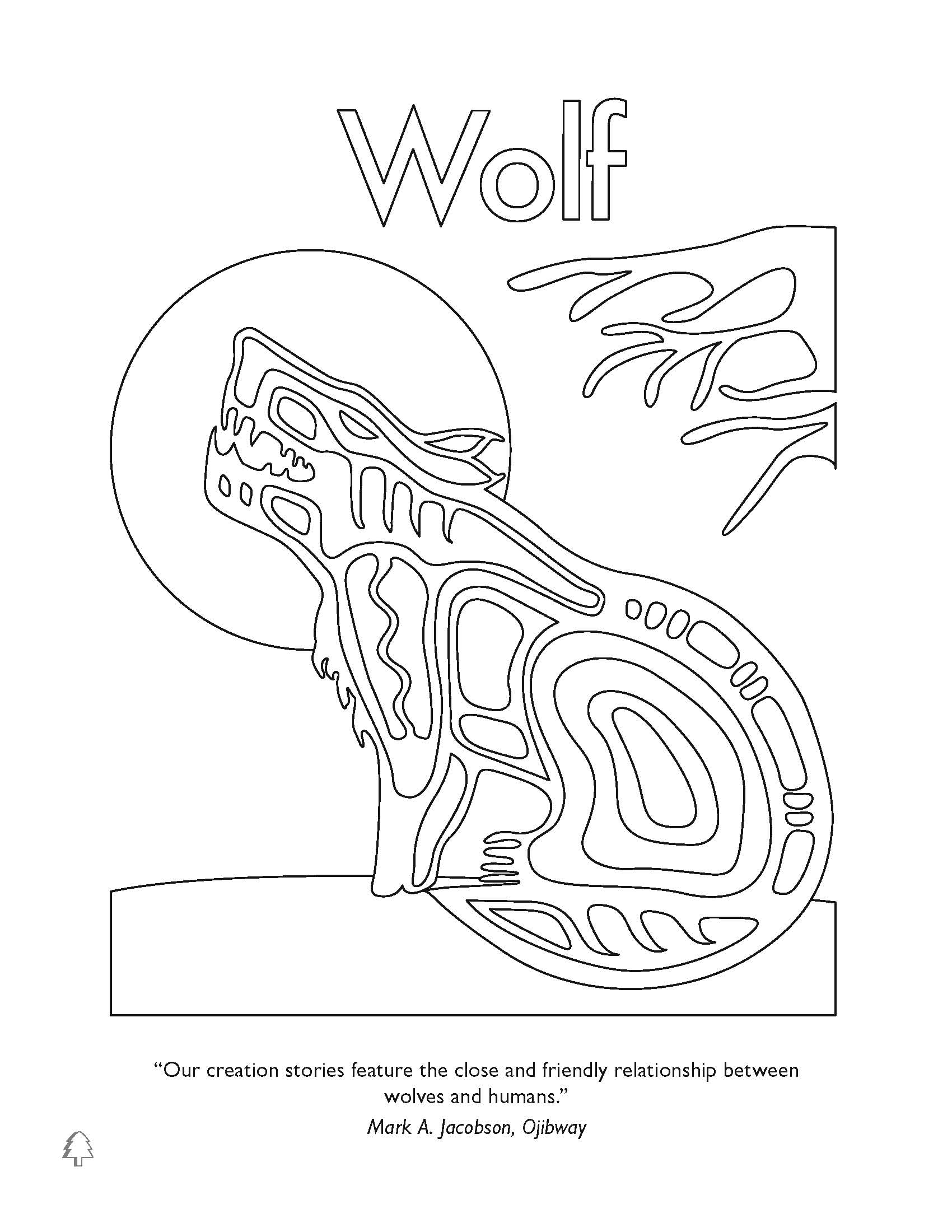 first nation wolf colouring pages