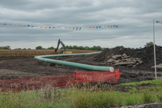 The Dakota Access Pipeline under construction in Iowa. Photo by Carl Wycoff. https://commons.wikimedia.org/wiki/File%3ADakota_Access_Pipe_Line%2C_Central_Iowa.jpg