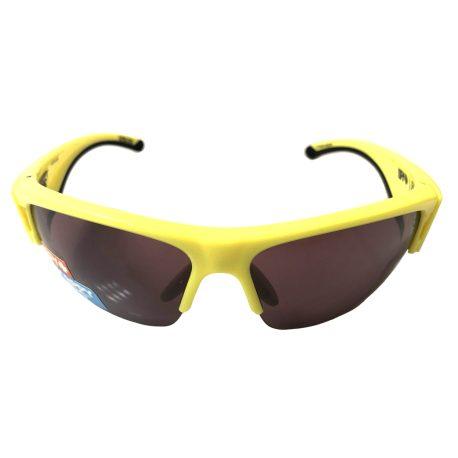 Spy Optic Flyer Sunglasses - Hi Vis Yellow - Happy Bronze Black Mirror