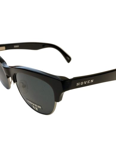 Hoven Vision Eddy Sunglasses - Black Gloss Frame - POLARIZED Grey Lens
