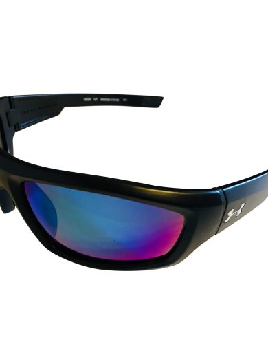 Under Armour Power Sunglasses UA - Satin Black - POLARIZED Blue Multi