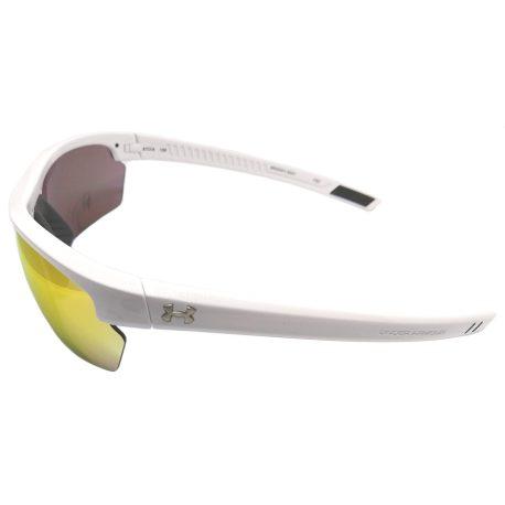 Under Armour Stride XL Sunglasses UA - Shiny White Frame - Orange Multi Lens
