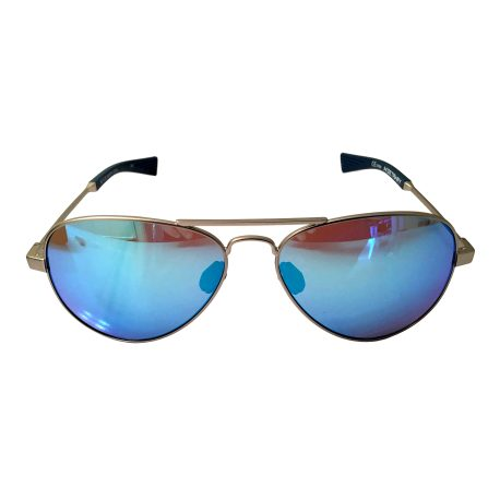Under Armour Getaway Sunglasses UA - Satin Silver Aviator Frame - Blue Multi Lens