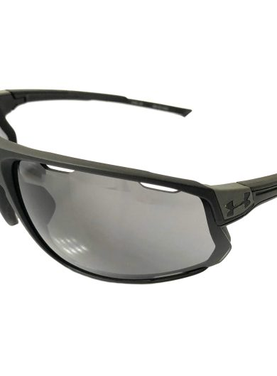 Under Armour Strive Sunglasses UA - Satin Black Frame - Gray Lens