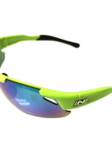 Optic Nerve Neurotoxin 3.0 Sunglasses - Shiny Green - Smoke Mirror + Xtra Lenses