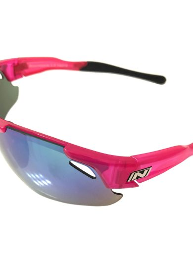 Optic Nerve Neurotoxin 3.0 Sunglasses - Shiny Crystal Pink - Smoke Green Mirror