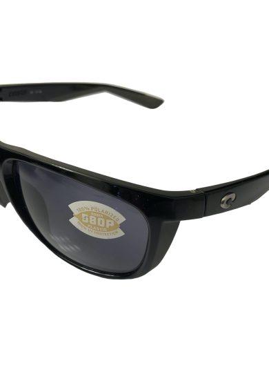 Costa Del Mar Kiwa Sunglasses - Shiny Black POLARIZED Gray 580P