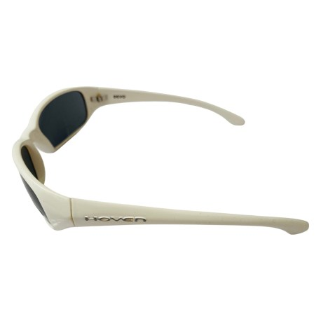 Hoven Vision Devo Sunglasses - Gloss White Frame - Grey Lens