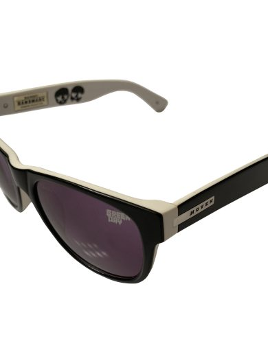 Hoven Vision Big Risky Sunglasses - Black & White - Green Day - Gray 39-2901