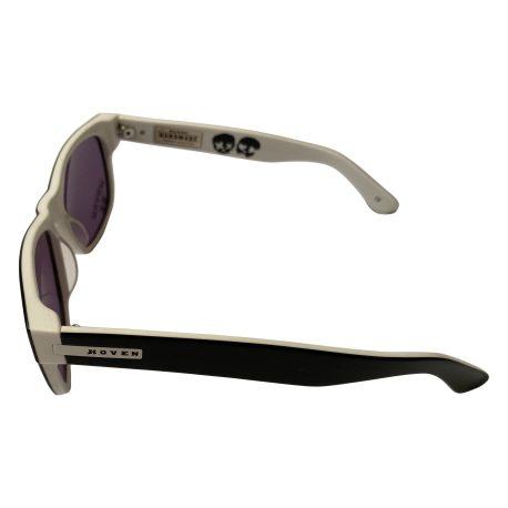 Hoven Vision Big Risky Sunglasses - Black & White - Green Day - Gray 39-2901