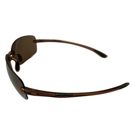 Suncloud Topline Sunglasses - Translucent Brown - Polarized Sienna Mirror