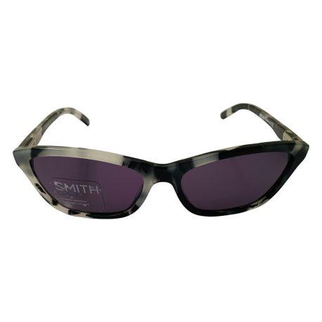 Smith The Getaway Sunglasses - Black White Zebra Tortoise Cateye Style Frame - Polarized Gray Lens