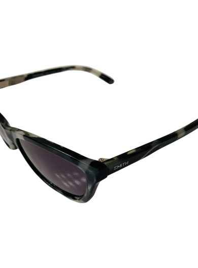 Smith The Getaway Sunglasses - Black White Zebra Tortoise Cateye Style Frame - Polarized Gray Lens