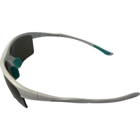 Suncloud Sable Sunglasses - Shiny White Frame - Polarized Gray Lens